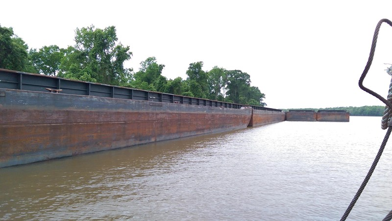 200' x 35' Inland Single Rake Hull Open Hopper Barge For Sale